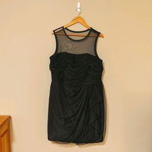 Vera Wang Black Tulle Dress